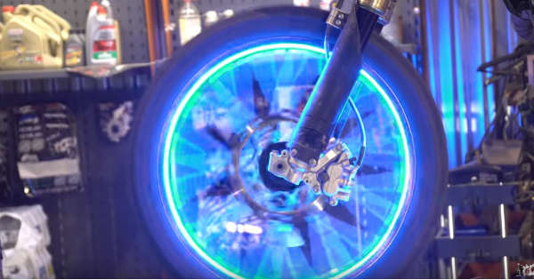 How To Make LED Light Wheels For Motorcycle 2