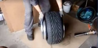 Installing A Small Tire Over A Big Rim 1