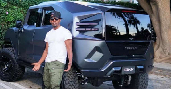 Jamie Foxx Shows Off His Spectacular Vehicle- The Razvani Tank 11