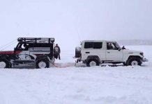 Land Rover Defender VS Land Cruiser Tug Of War 1
