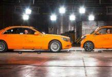 Mercedes Smart vs Mercedes S Class Safety Test 1
