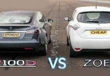 P100D Model S Tesla vs Renault Zoe 11