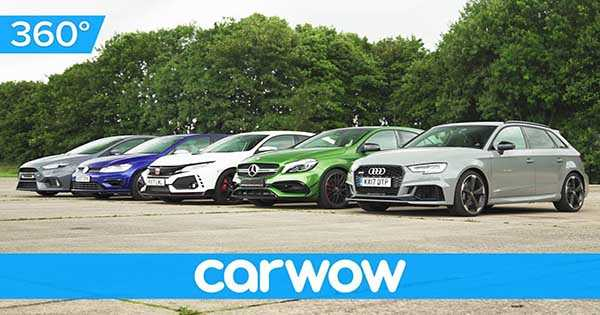 Sleeper Auto Drag Race Civic Type R vs RS Focus vs AMG vs Audi RS3 vs Golf R 2