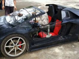 This Homemade Lamborghini Has A Motorcycle Engine In It 1