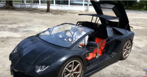 This Homemade Lamborghini Has A Motorcycle Engine In It 2