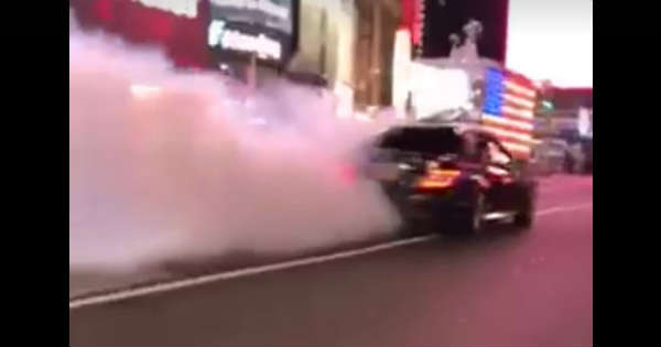 This Mercedes-Benz C63 AMG Nearly Ran Over A Cop At Times Square 2