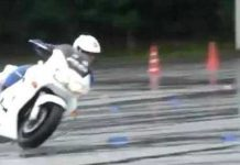 Wet Surface Skills Japanese Police Bikes 1