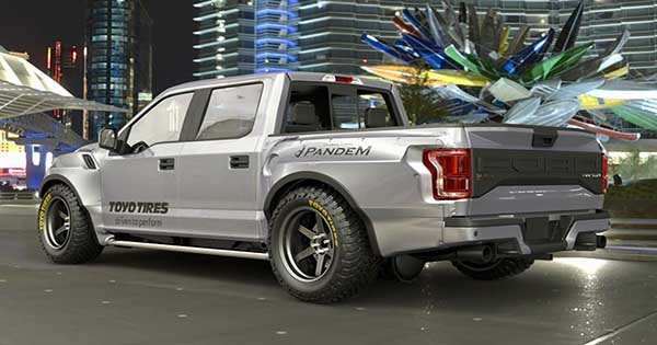 Wide Body Ford Raptor F 150 Pandem Displayed at Tokyo Auto Salon 2