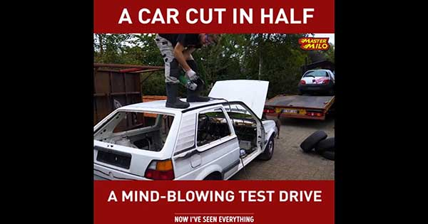 car cut in half test drive 1