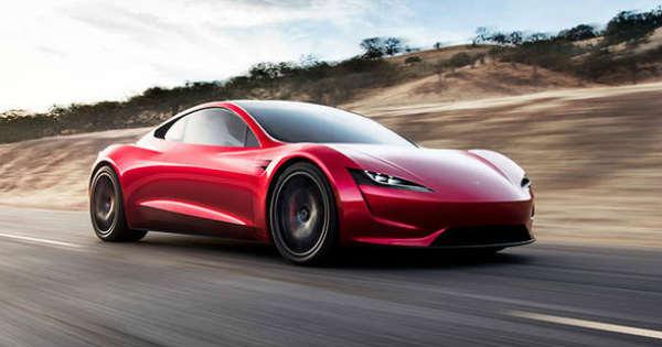 acceleration powerful tesla roadster