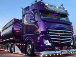 Lowrider Mercedes-Benz Actros 2663 Semi Truck 2