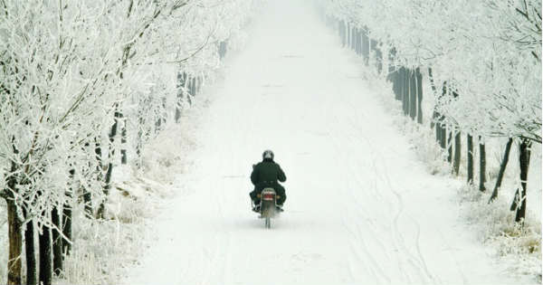 Safety Riding Tips for Bikers in the Wintertime 2
